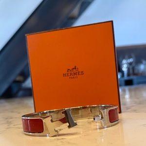 Hermès Clic H Bracelet (orange+silver avail too!)